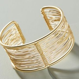 Anthropologie Stacked Cuff Bracelet